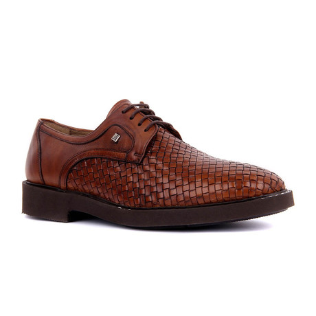 Daku Woven Textured Modern Dress Shoes // Tobacco (Euro: 37)