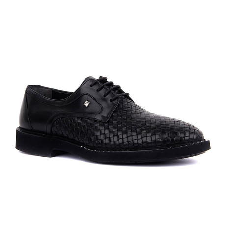 Ardun Woven Textured Modern Dress Shoes // Black (Euro: 37)