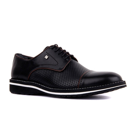 Rocco Contrast Trim Dress Shoes // Black (Euro: 37)