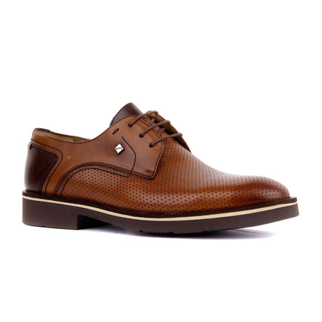 Ronik Contrast Dress Shoes // Tobacco (Euro: 37)