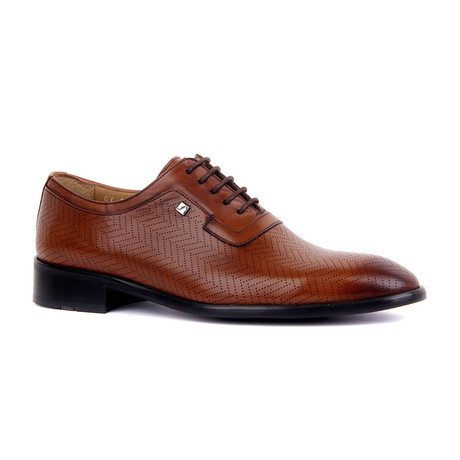 Andos Chevron Stitch Dress Shoes // Tobacco (Euro: 37)