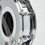 Mapex Snare Drum Wall Clock // Chrome + Black + Copper