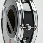 "Griffin Snare Drum Wall Clock 13"" // Black"