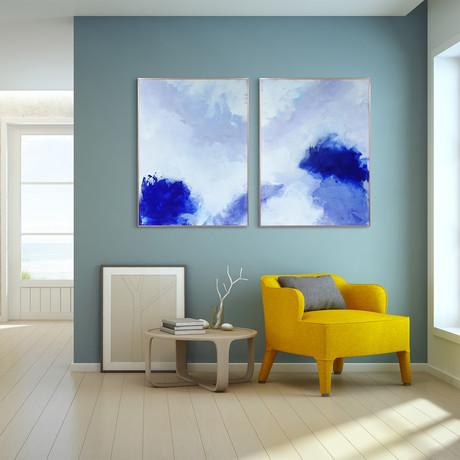 Blue Hues // Anodized Aluminum Rose Gold Frame (Blue Hues 1)