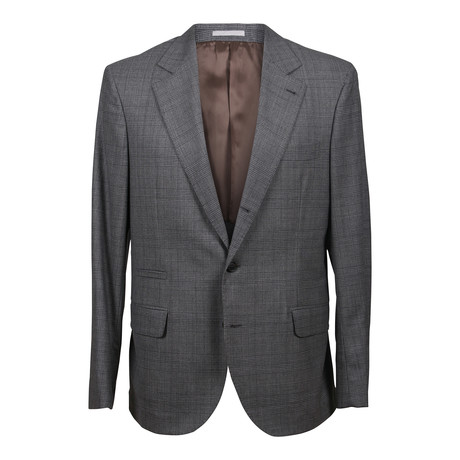 Wool Plaid Suit // Gray (Euro: 48)