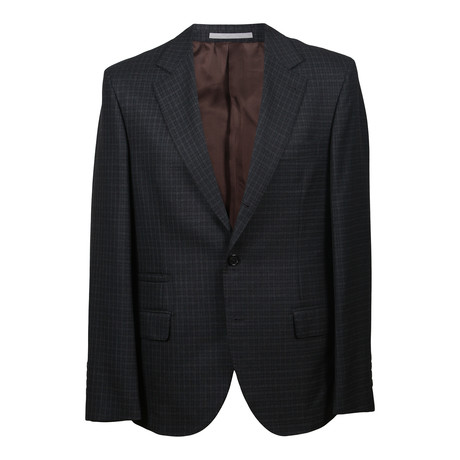 Wool Plaid Suit // Dark Gray (Euro: 46)