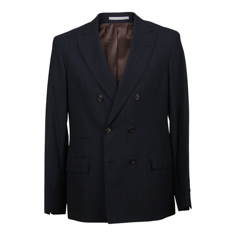 Virgin Wool Striped Suit // Navy (Euro: 48)