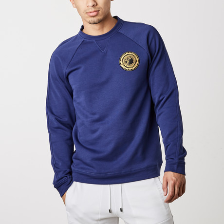 Versace Collection // Stephano Logo Gym Shirt // Blue (XS)