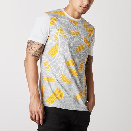 Lucca T-Shirt // Mustard + Gray + White (S)