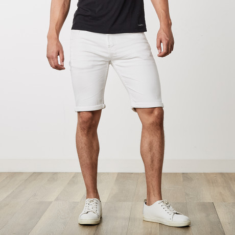 Roll Up Shorts // White (30)