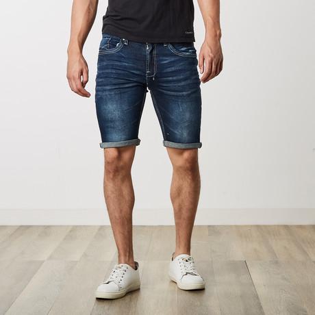 Denim Roll Up Shorts // Indigo (30)