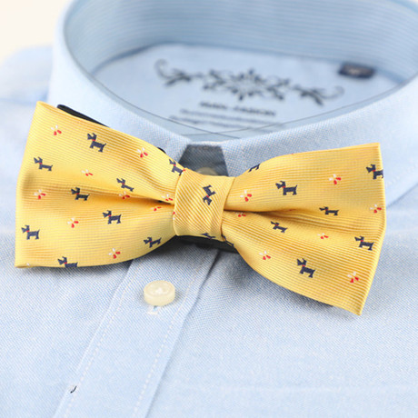 Silk Bow Tie // Yellow Puppy