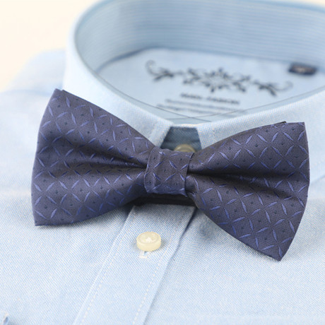 Silk Bow Tie // Purple + Blue