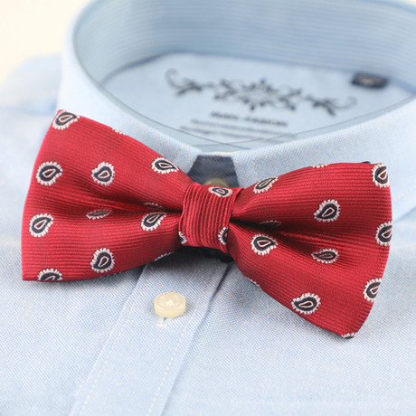 Silk Bow Tie // Red + Blue