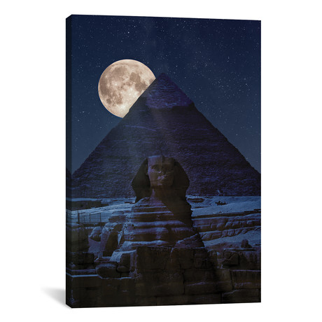 """The Dark Side Of The Pyramid // Marco Carmassi (18""""W x 26""""H x 0.75""""D)"""