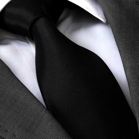 Hilario Silk Tie // Black