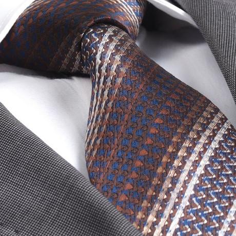 Anton Silk Tie // Knitted Brown
