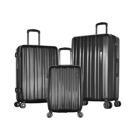 Comet 3-Piece Hardcase Luggage Set (Black)
