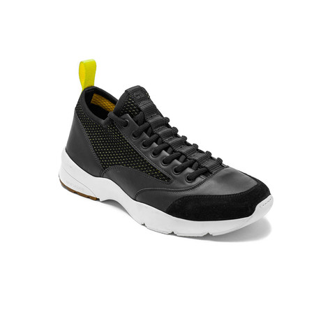 Dior // Leather Mesh Trainers // Black + Yellow (US: 6)