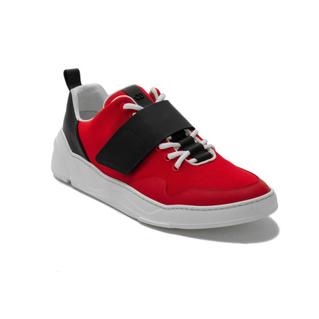 Dior // Leather + Canvas Sneakers // Red (US: 6)