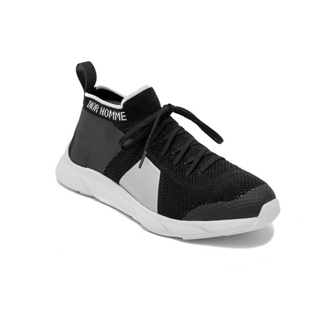 High-Top Technical Knit Sneaker Shoes // Black (US: 6)