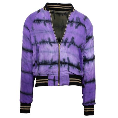 Amiri // Reversible Track Jacket // Purple + Olive (XS)