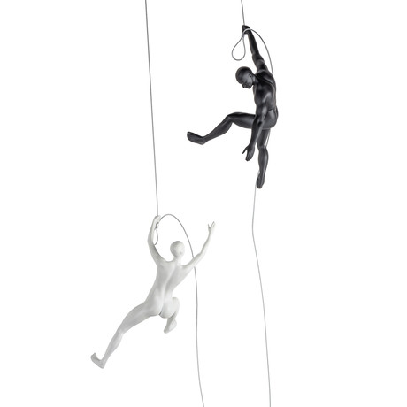 Climbing Couple Set // Matte Black + White