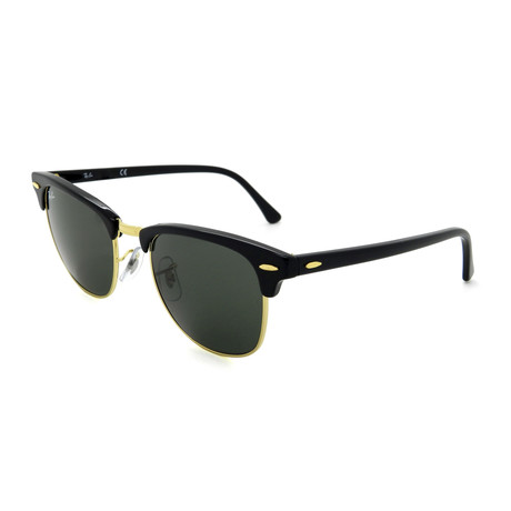 Clubmaster Sunglasses // Black + Green