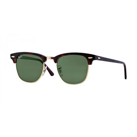 Clubmaster Sunglasses // Tortoise + Green