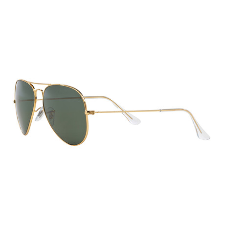 Ray-Ban // Aviator Large Metal Polarized Sunglasses // Gold