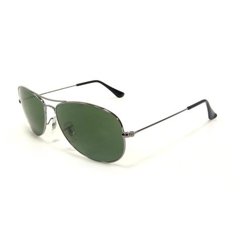 Men's Cockpit Polarized Sunglasses // Gunmetal + Green