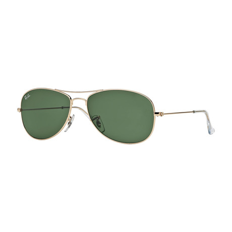 Men's Cockpit Sunglasses // Gold + Green