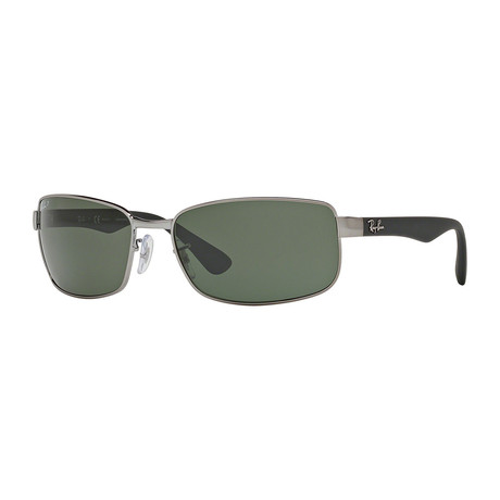 Ray-Ban // Metal Wrap Polarized Sunglasses // Gunmetal