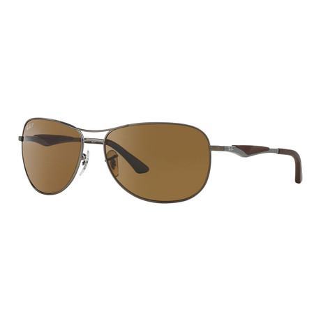 Ray-Ban // Steel Sunglasses Polarized Sunglasses // Matte Gunmetal + Brown