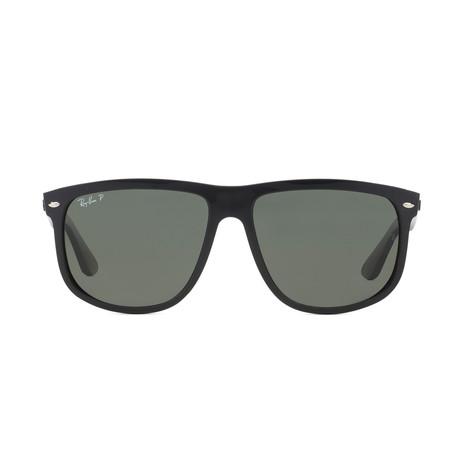Unisex Polarized Boyfriend Sunglasses // Black + Green
