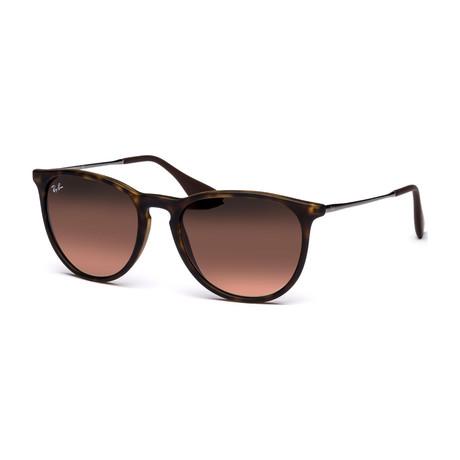Unisex Erika Classic Sunglasses // Brown + Brown Gradient