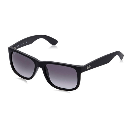 Justin Classic Sunglasses // Rubber Black + Gray Gradient