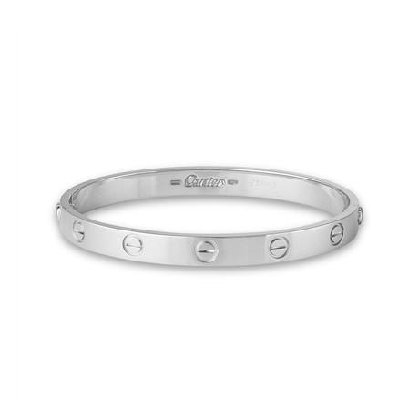 Vintage Cartier 18k White Gold Love Bracelet (Bracelet: 17cm)