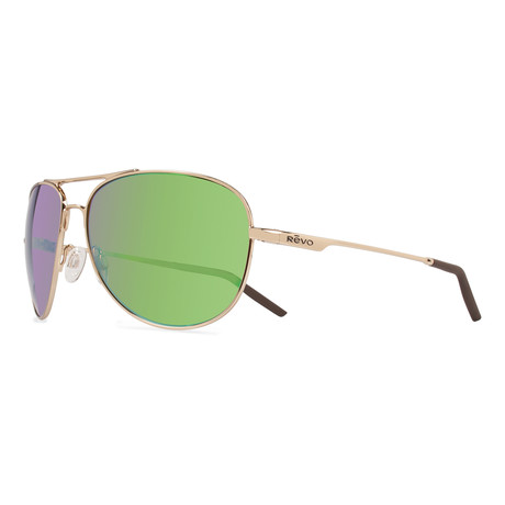 Windspeed Aviator // Polished Gold + Green Water