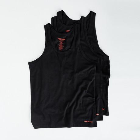 Tank Top // Pack of 3 // Black (S)