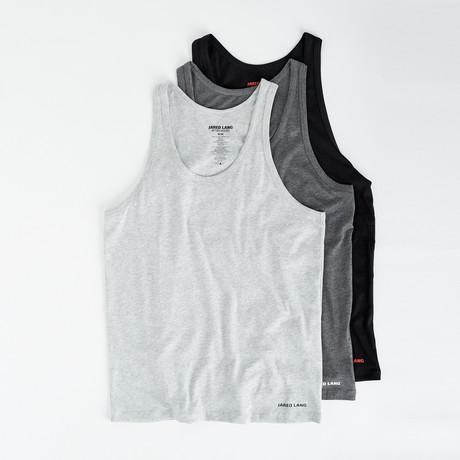 Tank Top // Pack of 3 // Black + Gray + Light Gray (S)