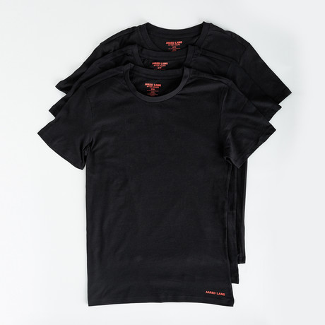 Crew Neck T Shirt // Pack of 3 // Black (S)