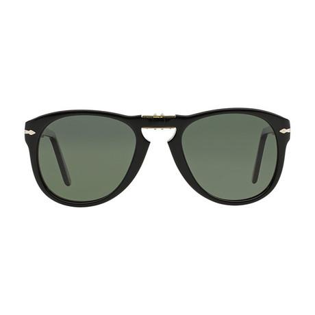 714 Iconic Folding Sunglasses // Black + Gray Polarized