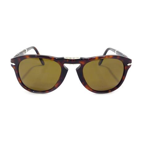 714 Iconic Folding Sunglasses // Havana + Brown Polarized