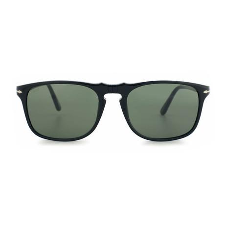 Rectangle Sunglasses // Black + Green