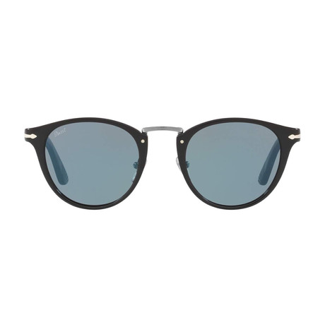 Acetate + Metal Sunglasses // Black + Blue