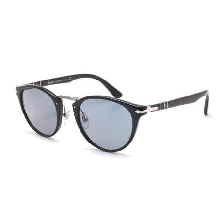 Persol Men's Acetate + Metal Sunglasses // Black + Blue