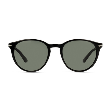 Classic Round Sunglasses // Black Polarized