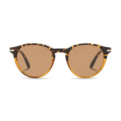 Classic Round Sunglasses // Tortoise + Camel + Brown