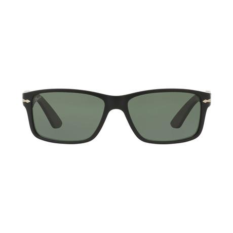 Square Sunglasses // Black + Gray Polarized